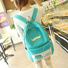 2015 Casual Women's Colorful Canvas Backpacks Girl Lady Student School Travel bags female backpacks canvas(China (Mainland))