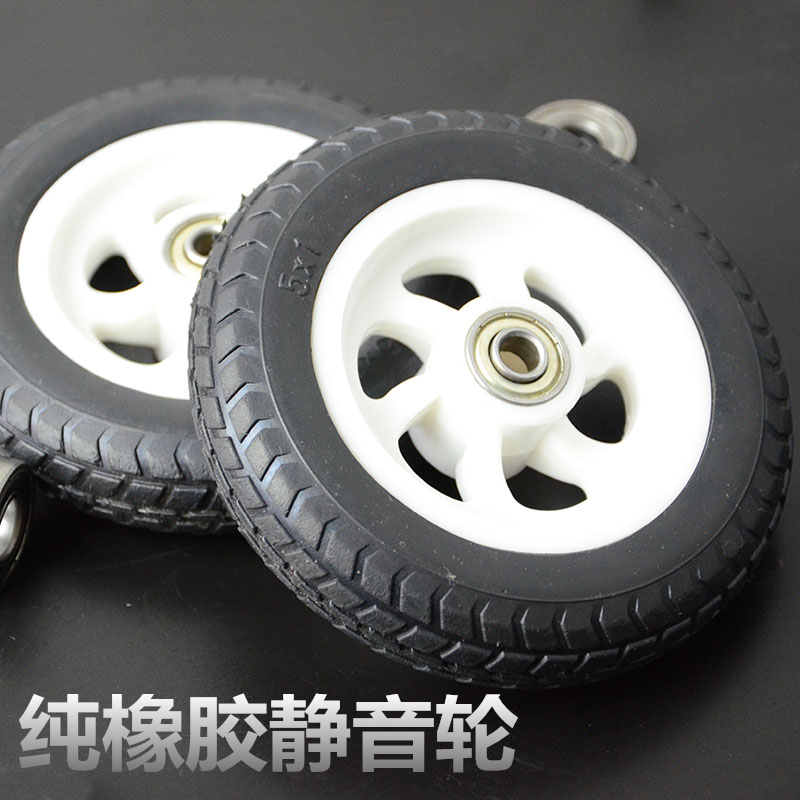 Silent rubber wheel casters luggage wheels a price<br><br>Aliexpress