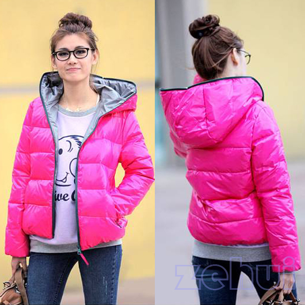 Hot Pink Winter Jacket - Coat Nj