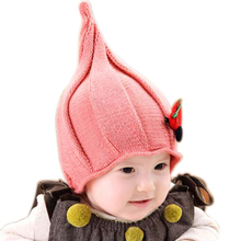 Baby Elf Hat Winter Fashion Kids Baby Beanie Tree Elf Design for Boy Girl Infant Child Knit Warm Cap Wizard Woolen Hats(China (Mainland))