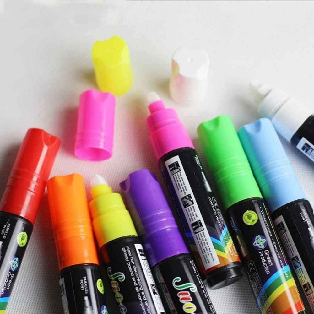 Hotsale Highlighter Fluorescent Liquid Chalk Neon Marker Pen for LED Writing Board FREE SHIPPING WHITE<br><br>Aliexpress