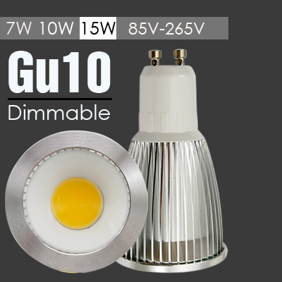 10pcs/lot Energy Light Bulbs LED COB 110V-240V SMD LED GU10 7W 10W 15W GU10 SMD Cool Warm White LED SMD GU10 Best Quality Bulbs(China (Mainland))