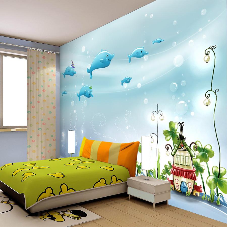 Buy child real tv background wallpaper mural bedroom wall for Buy mural wallpaper