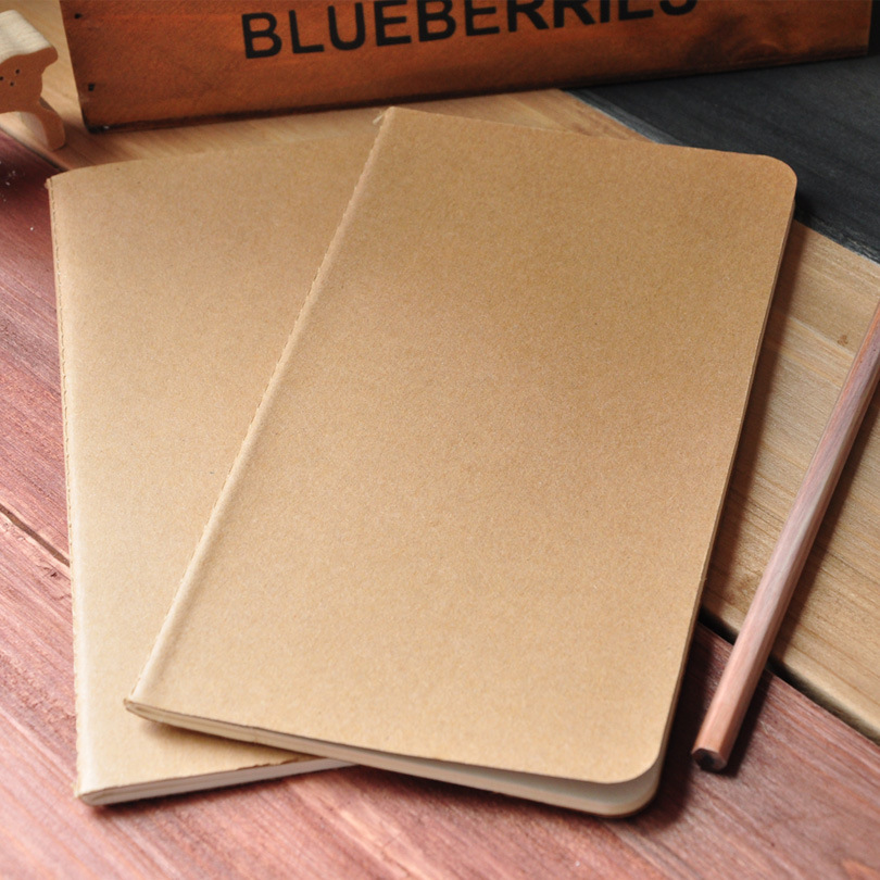 5 pcs/lot Korea creative retro wholesale kraft paper notebook blank notebook pages customized system Dowling free shipping 1463(China (Mainland))