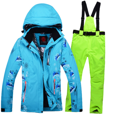 Top Quality Snowboard Jacket Suit Women Female Waterproof Thermal Ski Jacket Set Ladies Sport Motorcycle AnorakPant Snow Clothes(China (Mainland))
