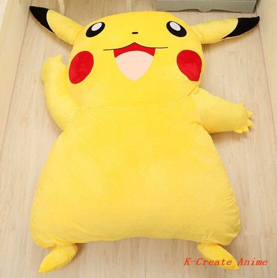 Hot sell 1pcs Cosplay anime Pikachu style soft sofa bed tatami.Free shipping 1pcs tatami via EMS(China (Mainland))