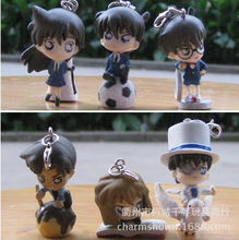 Buy 6pcs/set Detective Conan Mouri Ran Mini Keychain Action Figures Anime PVC brinquedos Collection Figures toys for $7.90 in AliExpress store
