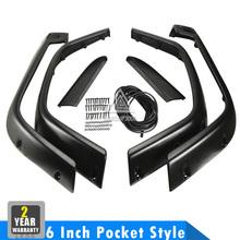6 Inch Pocket Style Auto Fender Flares Kit Car Wheel Wells Proctector Set For Jeep Wrangler TJ Unlimited LJ Rubicon Sahara(China (Mainland))
