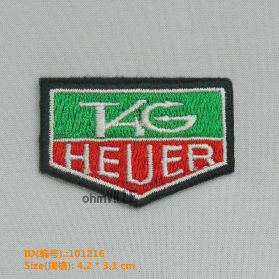 Iron on patch epaulet kg heuer embroidered