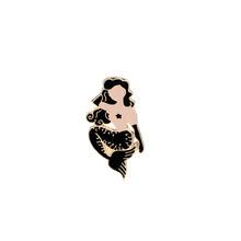 Sirena Spille s donne sexy Spille s e spille cosplay Spille Riccioli bellezza Smalto Distintivo risvolto Spille per il vestito del partito regalo della signora nero Fiocco(China)