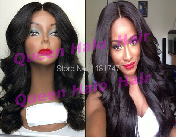 Top quality Grade 6A #1b loose wave virgin peruvian lace front wigs middle part for black women can be made bun free shipping(China (Mainland))