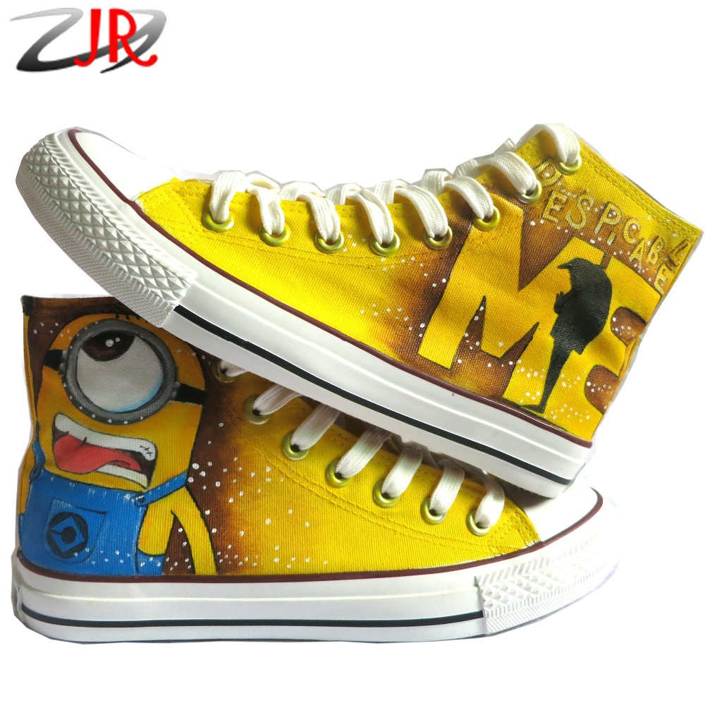 Cartoon Anime Figure Women Despicable Me Shoes Minion Shoes Women And Men Canvas High Tops Sneakers