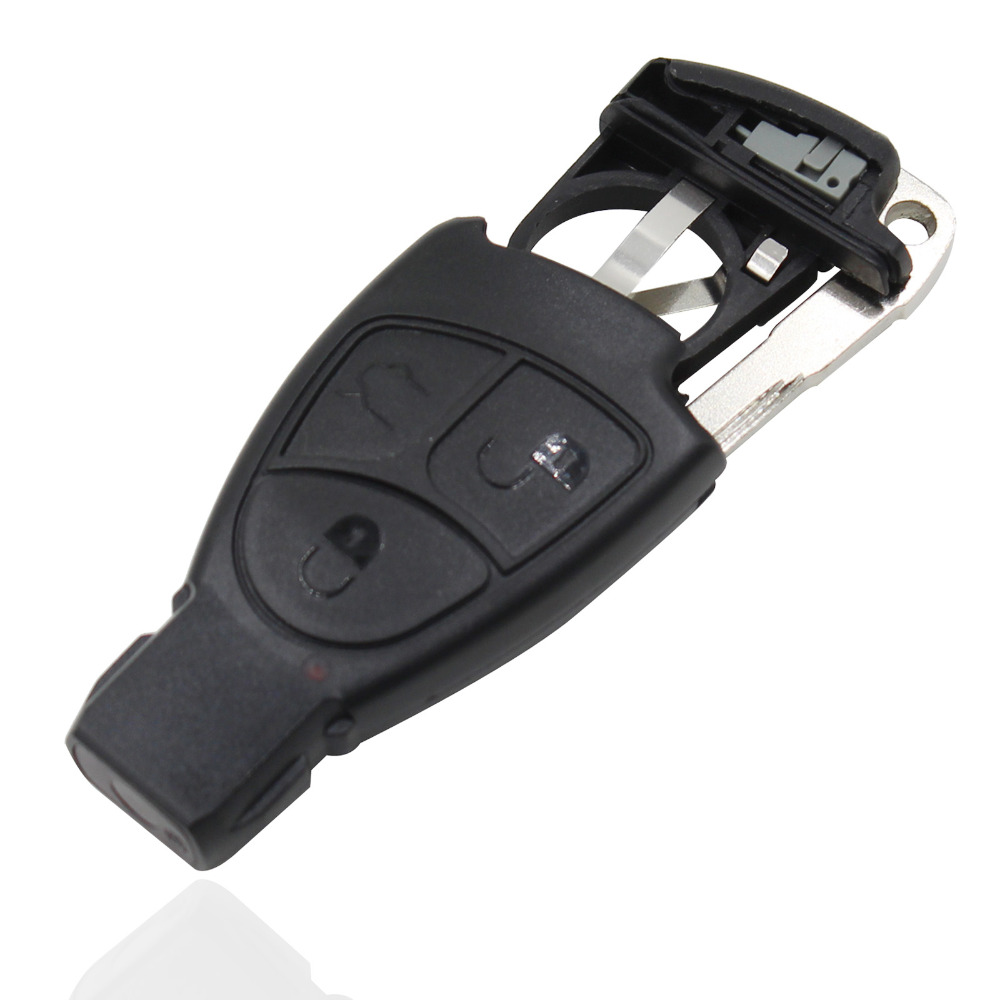 Free Shipping Car 3 Buttons Smart Key Case Cover + Battery Holder Clip + Key Tablets For Mercedes Benz B C E ML S CLK CL S   <br><br>Aliexpress