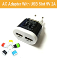 EU Plug Dual USB 5V 2A Wall Charger 2 Ports Travel Adapter Charger for iPhone 5s