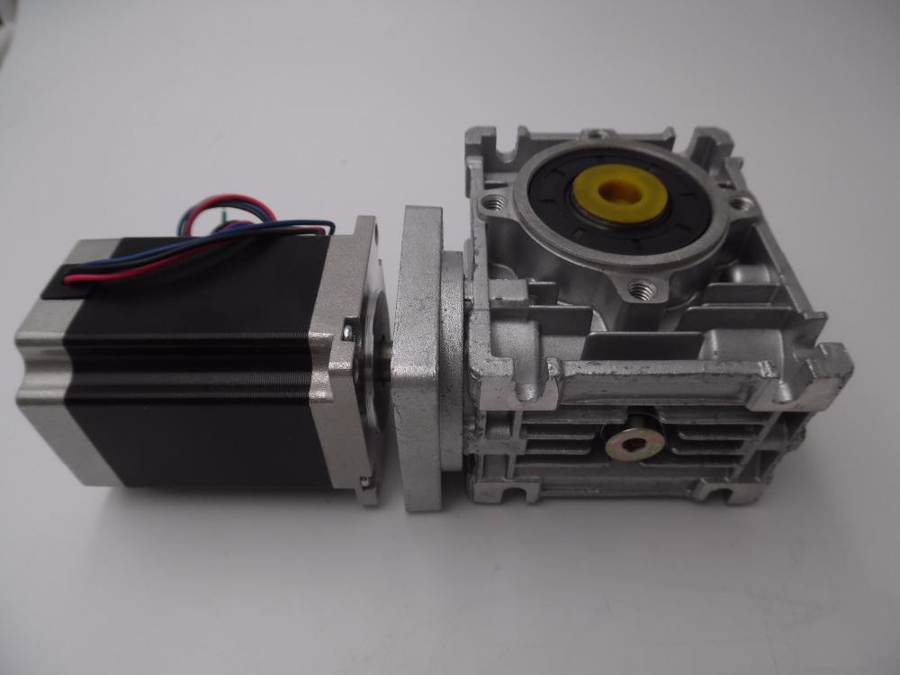 Фотография 20:1 Worm Geared Stepper Motor 1.8Nm L76mm 3A 4 Leads NEMA23 Stepper Motor for CNC Router