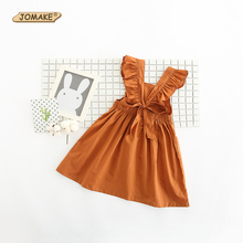 Buy Summer Princess Costume Kids Girls Dress Bow Girl Backless Tutu Dress Sleeveless Solid Party Dresses 2017 Children Clothing for $8.29 in AliExpress store
