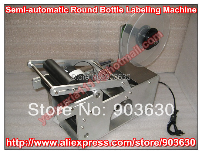 High quanlity Semi-automatic Round Bottle Labeling Machine ,bottle label sticker,Labeler Machine bottle packing machine(China (Mainland))