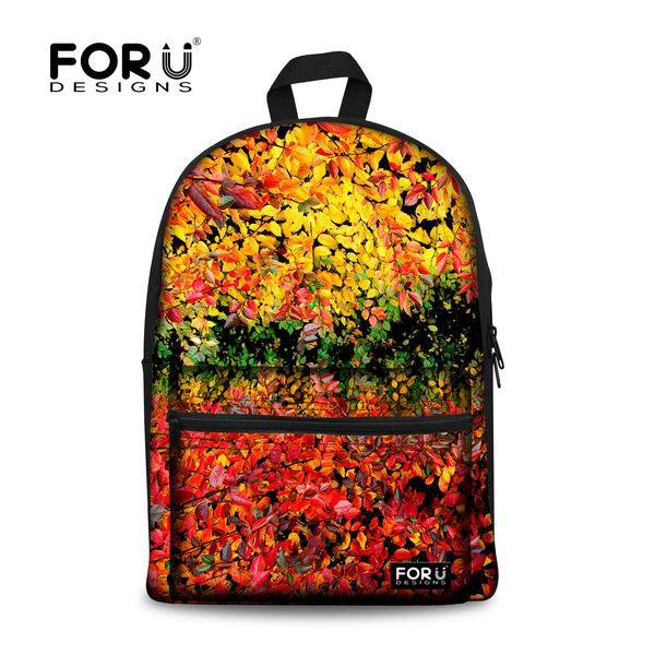 2016 Fashion Canvas Toronto Maple Leaf Printing Women Backpack College Grils Sunflower School Book Bags Leisure Kids Backpack(China (Mainland))