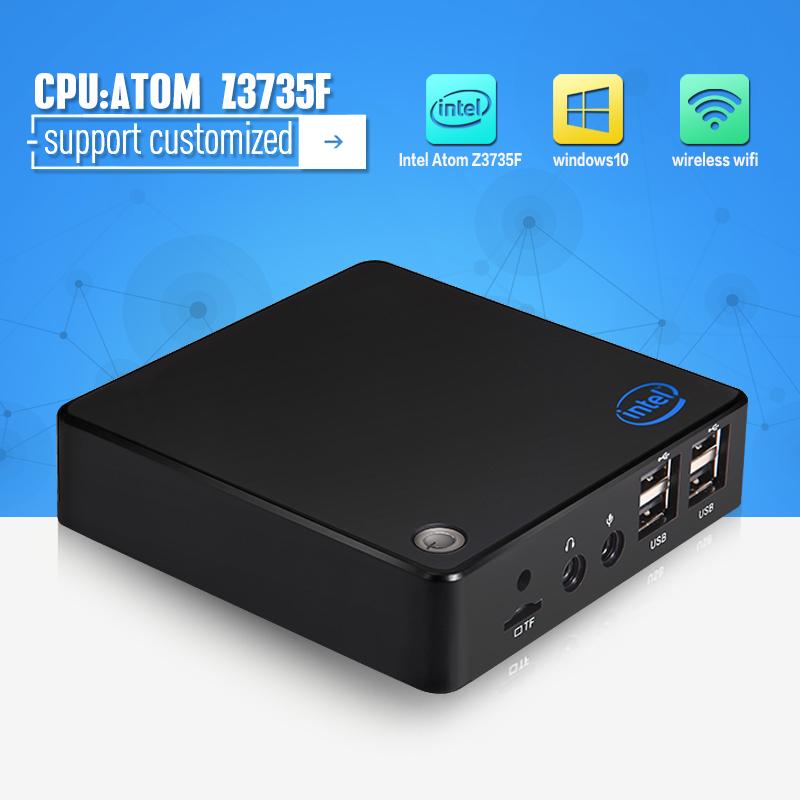 Fanless Wintel Mini PC Windows 10 Quad Core Wintel Atom Z3735F 2GB DDR3 32GB HDMI LAN WiFi Bluetooth(China (Mainland))