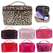 Women Fashion Cosmetic Bag Big Travel Lingerie Bra Underwear Dot Bags Cosmetic Makeup Toiletry Storage Organizer Case MBE00005-0(China (Mainland))