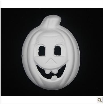 Masquerade party white mask diy eco-friendly pulp mask pumpkin mask chireach(China (Mainland))