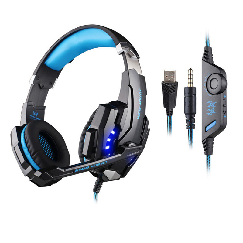 Professional Gaming Headphone KOTION EACH G9000 3.5mm Auriculares with Microphone LED Light For Laptop Tablet Mobile Phone(China (Mainland))
