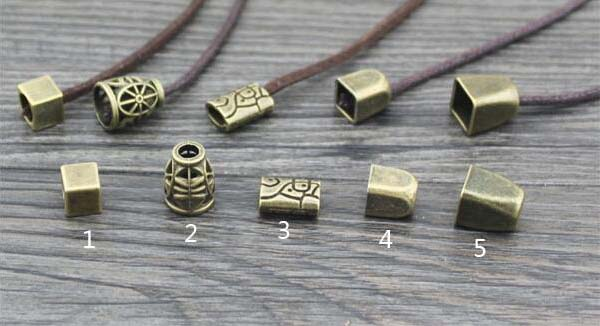 20pcs/lot good quality vintage metal stopper design mixed cord end(China (Mainland))