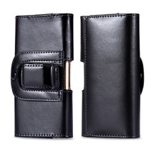 Black Belt Clip Holster Leather Mobile Phone Case Pouch cover For Smartphone Lenovo P70 Universal cases Accessories M2A05D