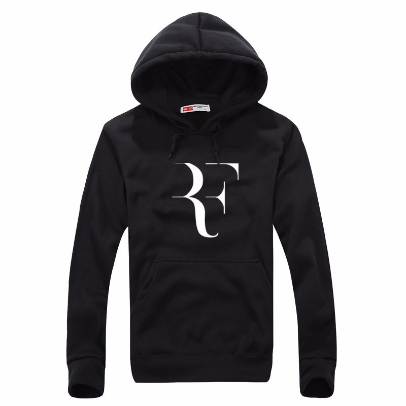 New boy Fashion Roger Federer RF Tennis Men Casual Round collar Long Sleeve Cotton Mens fleece Hoodies Sweatshirts Man Clothing(China (Mainland))