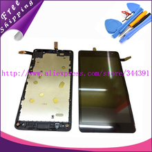 For Microsoft Lumia 535 N535 Touch Screen Digitizer+LCD Display Digitizer Assembly With Frame +tools free,Free Shipping