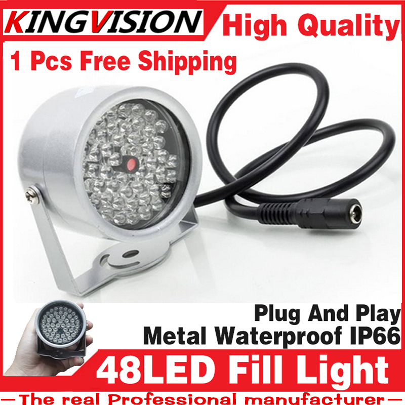 Free shipping 48LEDs Illuminator IR Infrared dome CCTV camera hd Night enhancement Fill light Vision 40M Lamp Securit 850nm 12V(China (Mainland))