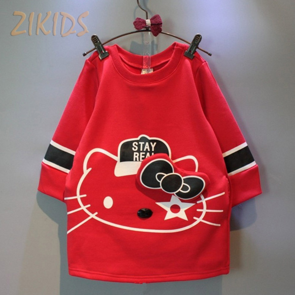 Hello Kitty Dress Baby Girl Dresses Cute Bow Girls Clothing Red Cotton Kids Clothes Brand Children Costume Autumn 2016 Sale(China (Mainland))