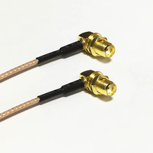 """Buy New SMA Female Jack nut Right Angle Switch SMA Female Jack nut RA pigtail cable RG178 Wholesale 15CM 6"""" Adapter for $2.04 in AliExpress store"""