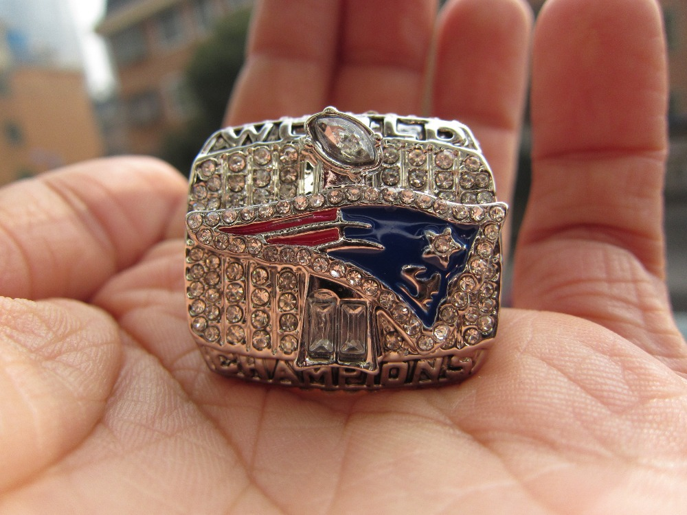 Free Shipping fashion wholesale sport ring 2001 Super Bowl New England Patriots Championship Ring for men big ring Size 11 solid(China (Mainland))