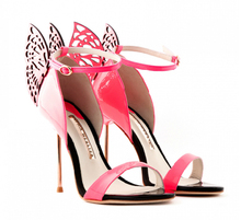 2014 New Designer Butterfly Cut-Outs women high heel sandals,OL sandals,Sweet Patent leather ankle strap pumps,free shipping!(China (Mainland))
