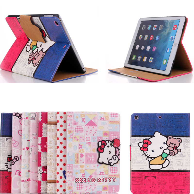 """PU Leather +Silicon Cartoon Hello Kitty for 7.9"""" Apple iPad mini 3 2 1 tablet protective desk stand holder support case cover(China (Mainland))"""