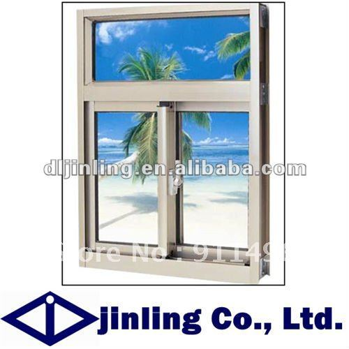 High strength aluminum style fixed glass window for Window design group