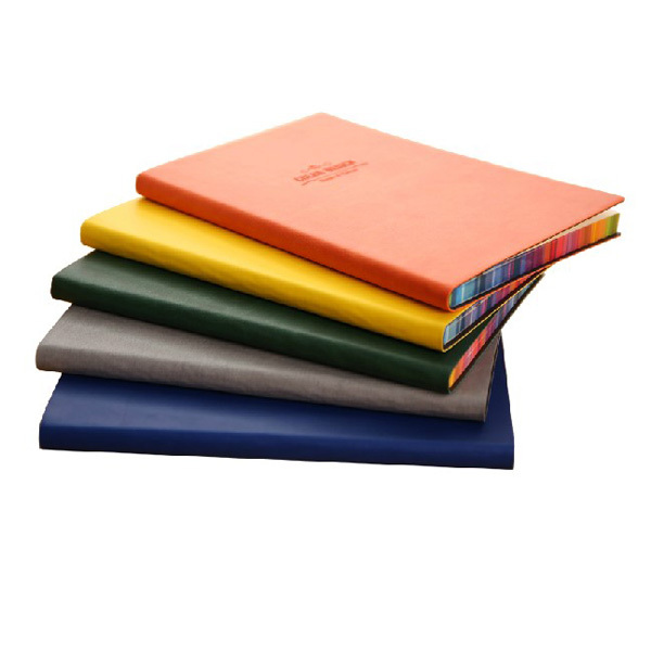 A5 Fashion notebook Deli 3183 leather face this color spray side PU material notepad 25 k creative log notebook(China (Mainland))