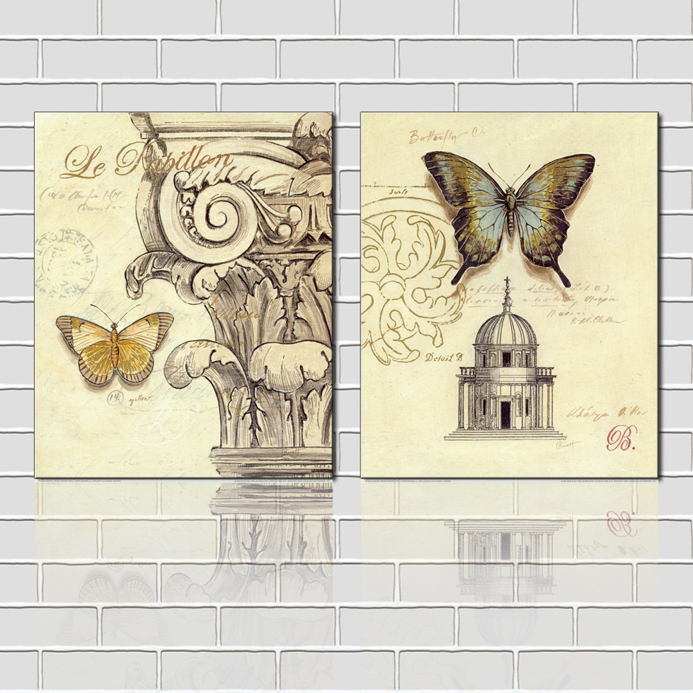 European Butterfly Art Prints Home Goods Wall Decoration