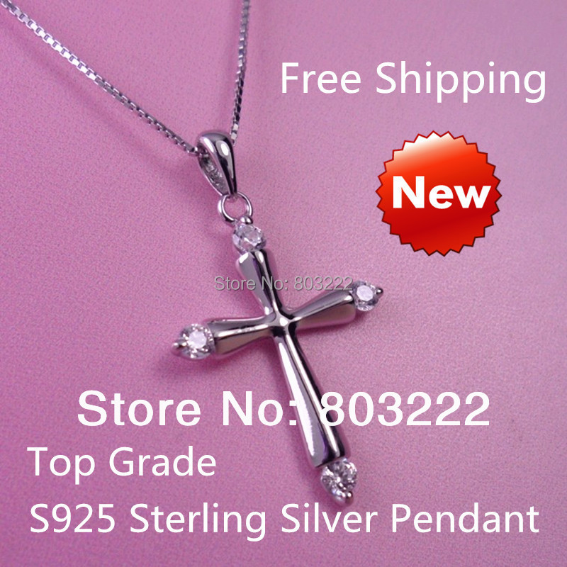 free shipping,100% pure 925 sterling silver jewelry cross pendant,jesus jewelry pendant ! real 925 silver jewelry pendant, gift,(China (Mainland))