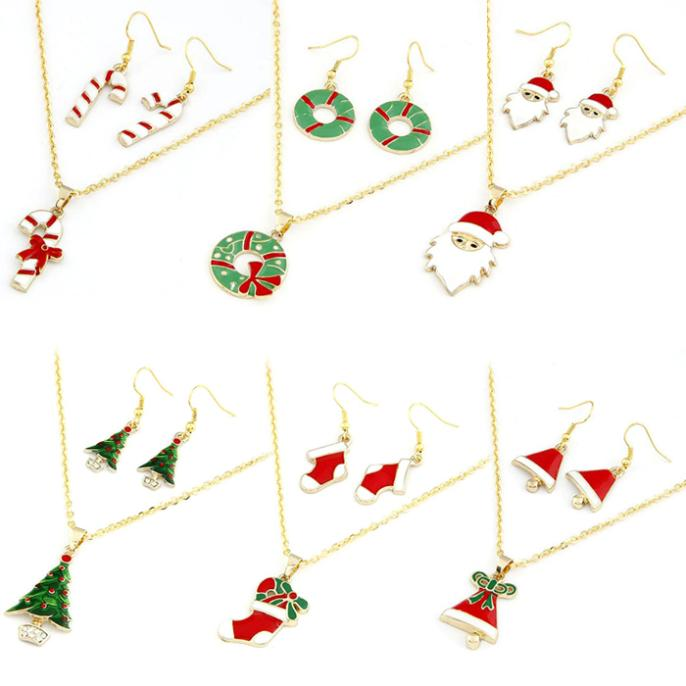 Popular Beautiful And Beautiful Hot Selling Fashion Chain Jewelry Bib Christmas Gift Necklace & Earrings for Whale(China (Mainland))