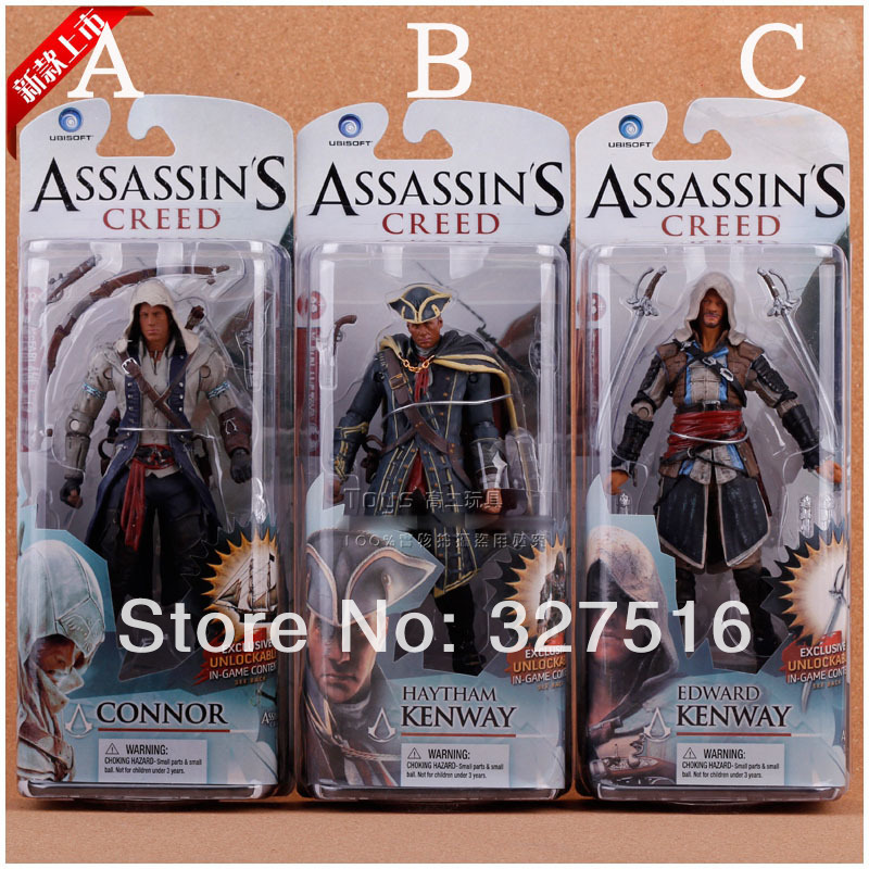 NECA Toys Assassins Creed 4:Black Flag PVC Action Figures Toys Classical Figures Edward Kenway Etc 3pcs/set 7 inch Model Free<br><br>Aliexpress