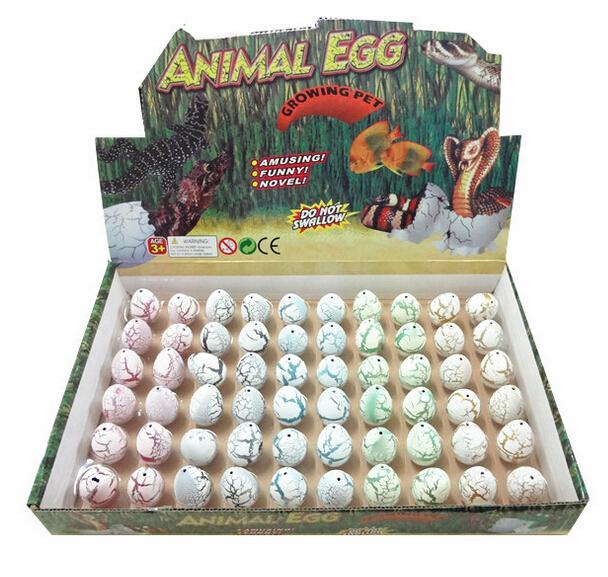 60 unids/lote Novel agua eclosión Dinosaur Egg inflación grietas acuarela Grow huevo juguetes educativos regalo interesante envío gratis(China (Mainland))