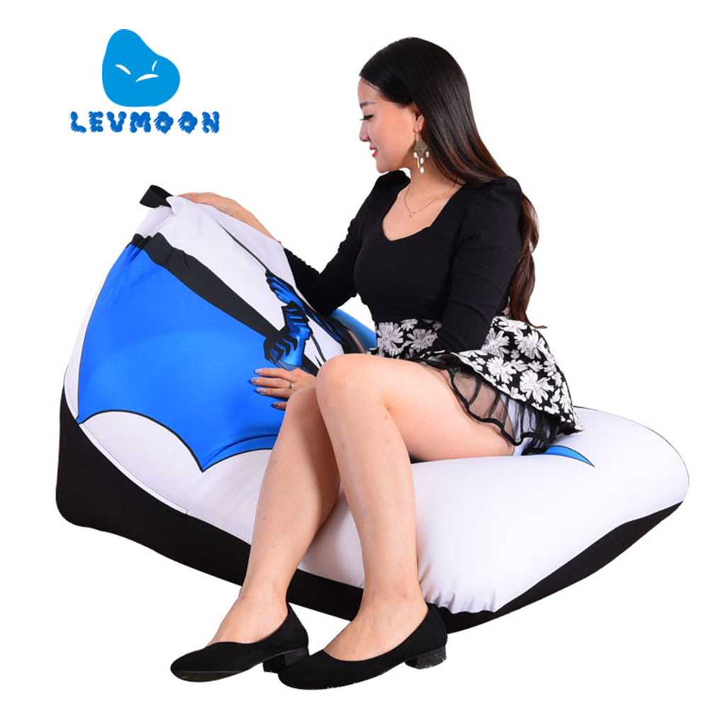 LEVMOON Beanbag Sofa Chair Batman Carton Seat Zac Bean Bag Bed Cover Without Filling Indoor Beanbags(China (Mainland))