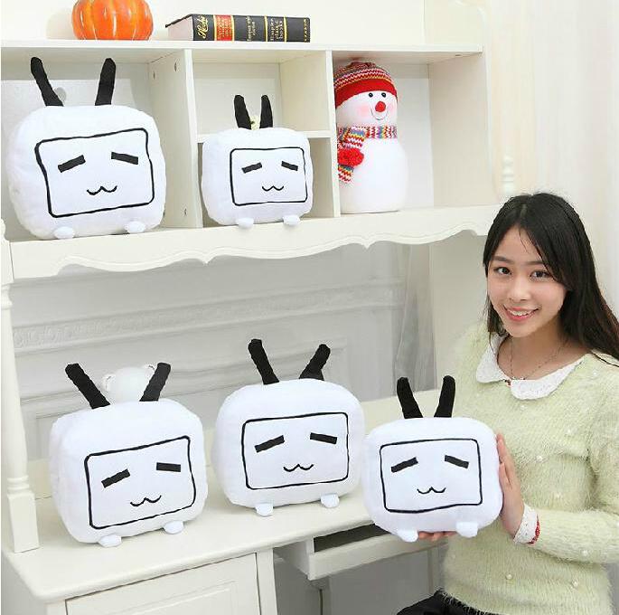 Kawaii TV Plush Toys High quality Interesting Tv Pillow PLush Anime plush Toys Baby Toy(China (Mainland))