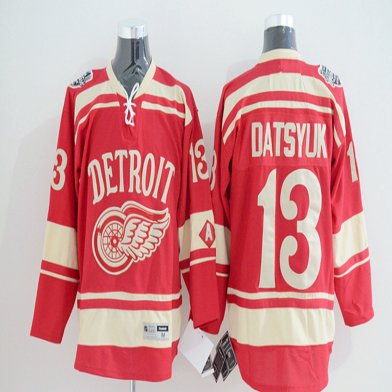 New Red Wings 2014 Winter Classic Panarin Jersey authentic #13 Pavel Datsyuk Home stitching High quality Ice Hockey Jerseys(China (Mainland))