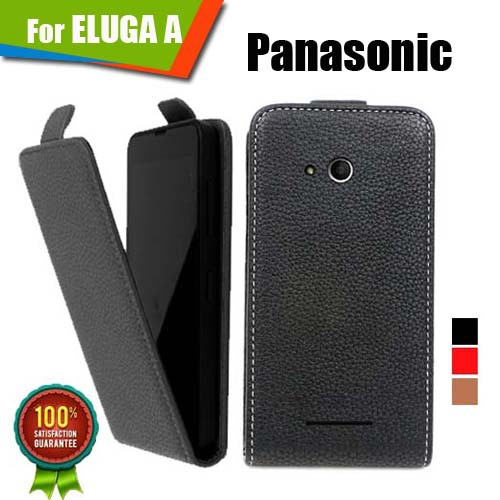 New items 100% Special Case PU Leather Flip Up and Down Case + Free Gift For Panasonic ELUGA A(China (Mainland))
