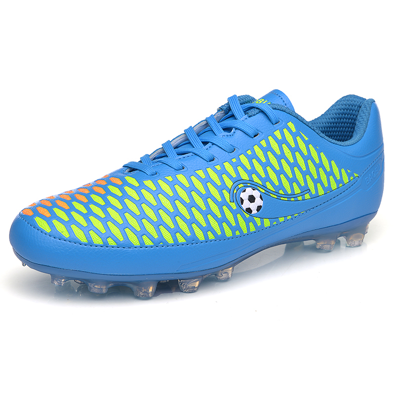 2016 Football Shoes Men Soccer Cleats Soccer Spikes Botas De Futbol Blue/Green Cheap Football Boot Men Size 39-44 Mens Cleats(China (Mainland))