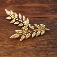 Vintage Paduan Bros Indah Daun Pohon Pin Bros untuk Wanita Daun Bros Pin Emas Perak Tanaman Kerah Pin Pria Perhiasan(China)