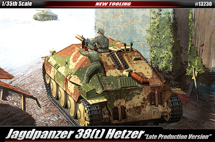 Academy model 13230 1/35 scale Jagdpanzer 38[t] Hetzer plastic model kit(China (Mainland))